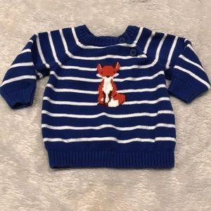 Gymboree fox striped sweater